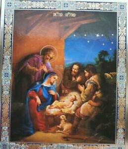 Three Kings, Three Wise Men - Christmas, Christ, Mother of God and the Magi ICON
