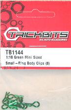 Tb1144 trickbits 1:18 Green Mini tamaño Auto Buggy Body Clips (8) R/c Accesorios