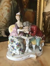 ANTIQUE 1900-1910 GERMAN PORCELAIN DRESSEL KISTER GROUP FIGURINE HEIGHT 22 CM
