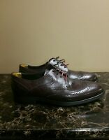 Ted Baker AMOROSI Men's Leather Wing Tip Brogue Shoes Burgundy sz 11( US 12)