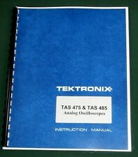 Tektronix TAS 475 & TAS 485 Instruction Manual: Comb Bound & Protective Covers