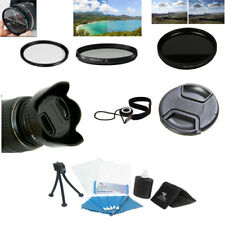 PRO 62mm Filter KIT UV CPL ND Hood & Cap For Tamron 70-300mm 90mm Macro Lens
