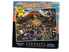 "NOAH'S ARK Dowdle Folk Art 100 Pieces Child's Jigsaw Puzzle 16"" X 20"" USA ~NIB~"