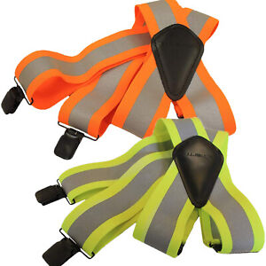 "Carhartt High Visibility Suspenders 2"" Adjustable Clip-on Work Suspender"