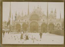 Italie, Venise, La Basilique Saint-Marc, 1903, vintage citrate print Vintage cit
