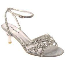 Fiesta de noche para Mujer Diamante Boda Nupcial Sandalias Zapatos Bridesmaids Reino Unido F-444