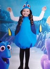Girls Kids Finding Dory Blue Fish Halloween Costume Outfit size Small 4 6 6X NEW