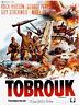 Plakat Gebogen 120x160cm Tobruk, Commando für die HÖLLE (1967) Rock Hudson Be