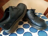 Dr Doc Martens Chanda Brown Soft Leather Lace Up Oxfords Women's Size 10