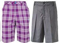 Puma Golf Essential Solid & Plaid Check Shorts RRP£50 - W28 - W30 1st Class Post