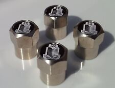 TRIUMPH TR3A CLASSIC  CAR CHROME ALLOY TYRE VALVE CAPS FOR TIRE VALVES