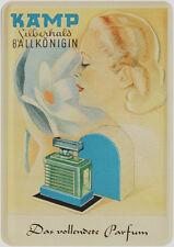Blechpostkarte 10 cm x 14,5 cm Kamp das vollendete Parfüm Parfum Ballkönigin