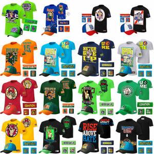 5pcs T Shirt Hat cap Wristbands Sweatband boys mens for John Cena WWE Xmas gift