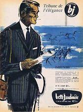 PUBLICITE ADVERTISING 114 1960 LA BELLE JARDINIERE costume