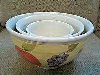 Sweet Harvest by Housewares set of 3 nesting mixing bowls 4qt-2qt-1qt