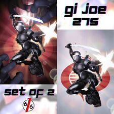 💥🚨 GI JOE #275 SET OF 2 HAL LAREN Exclusive Virgin Variants Ltd 500 COA NM