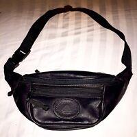 Vintage Northwest Territory Black Leatherette Fanny Pack Waist Pack Bag 3 Pocket