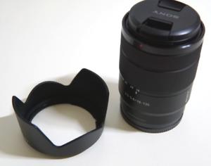 Sony SEL18-135mm F/3.5-5.6 OSS Lens SEL18135 (BulkPackage) + hood