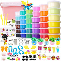 36 Colors Air Dry Clay Kit Magic Modeling Clay Ultra Light Clay With Accessories