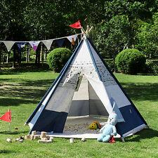 BNIB Large Cotton Canvas Kids Boys Girls Plane Pentagon Teepee Outdoor Tent