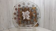 50 pence London 2012 Olympic coin set  display stand frame sports collection