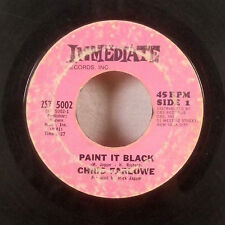 """Chris Farlowe Paint It Black You're So Good For Me 7"""" 45 Immediate RARE PINK VG-"""