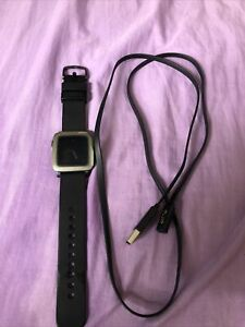 Pebble Time 9.5mm Stainless Steel Case Black Classic Buckle