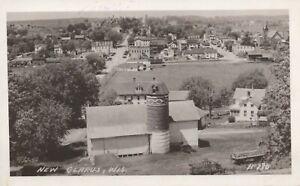 Birds-eye View - New Glarus, Wisconsin - posted RPPC
