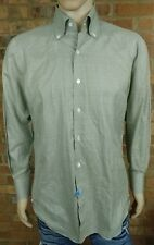 Finamore Napoli Light Green Dress Shirt - Slim - 15 34 - 40 Check