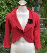 ROCKSTEADY Marilyn Sweater Waist Cardigan Black Rose Brooch Retro Plus 2X