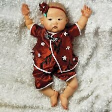 Realistic Handmade Baby Doll Girl ASIAN Lifelike Vinyl Weighted Alive Reborn