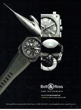 Publicité Advertising 078  2009   montre Bell & Ross  BR 01 2  Diamètres