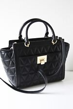MICHAEL KORS TASCHE BAG VIVIANNE LG TZ Satchel Leather Leder black schwarz