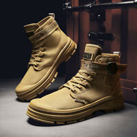 Men's Winter Snow Martin Boots Work Shoes Lightweight Canvas Outdoor Ankle Shoes