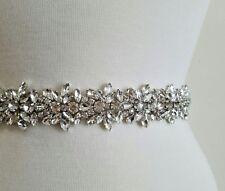 Wedding Bridal Sash Belt, Crystal Wedding Sash Belt = 18 inch long
