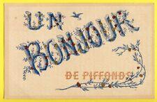 CPA Rare France 89 - UN BONJOUR de PIFFONDS (Yonne) Paillettes
