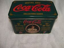 COCA-COLA TIN 20 METAL ART COLLECTORS CARDS 1994 FREE SHIPPING