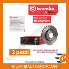 2 DISCHI FRENO FORATI ANTERIORE BREMBO ALFA ROMEO 159 2.4 JTDM KW:154 2007>2011
