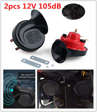 Electric Loud Noisy 12V Vehicle Truck Dual-tone Air Horn Sound Snail Set Kit Red