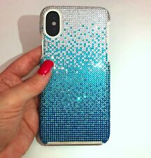 iPhone 7/8 Bling Case Made with Swarovski Crystals Faded Blue Bedazzled Cover