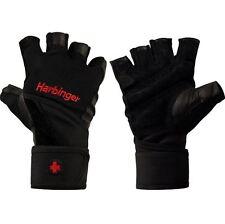 Weight Lifting Gloves Harbinger 140 Ventilated Pro Wristwrap - M, L, XL - Black