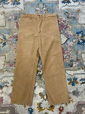 Carhartt Dungaree Pants Size 36X34 Vintage Cargo Distressed Brown Khaki