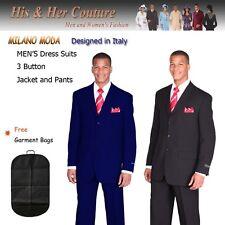 Men/'s basic suit polyester 3 Button suit Purple,R.Blue  By Milano Moda 802 P