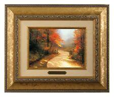 Thomas Kinkade Autumn Lane Framed Brushwork (Gold Frame)