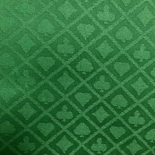 More details for poker table cloth suited green speed cloth for professional tables 150cm x 100cm