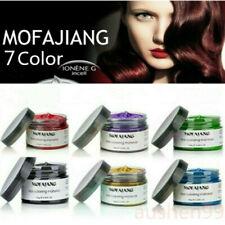 120ml Hair Color Unisex Gel Temporary Color Cream Hair Dye Wax Easy Wash Plant