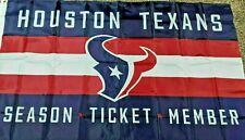 New listing Nfl Houston Texans Season Ticket Holder Gift 3' x 5' Flag & 2 face guard masks