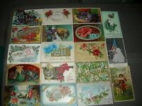 Lot of 50 Vintage Holiday Greetings Postcards~Easter~Flowers~Big Letter~Xmas