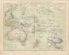 Oceanien und Australisches Festland Fidschi Victoria Queensland Brockhaus 0433