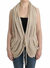 NWT C'N'c COSTUME NATIONAL Beige Cardigan Sweater Knit Vest Knitted S/US6